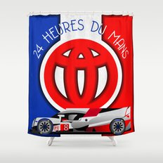24 Hours of Le Mans - Toyota TS050 Shower Curtain