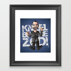 Kneel!!! Framed Art Print