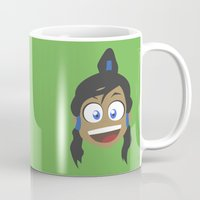 the legend of korra Mugs featuring Korra by tukylampkin