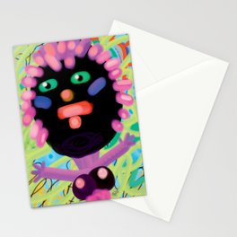 lady with curlers Stationery Cards