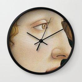 Botticelli 1480  Portrait of Simonetta Vespucci - detail Wall Clock