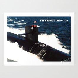 USS WYOMING (SSBN-742) Art Print