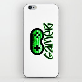 Gamer Green iPhone Skin