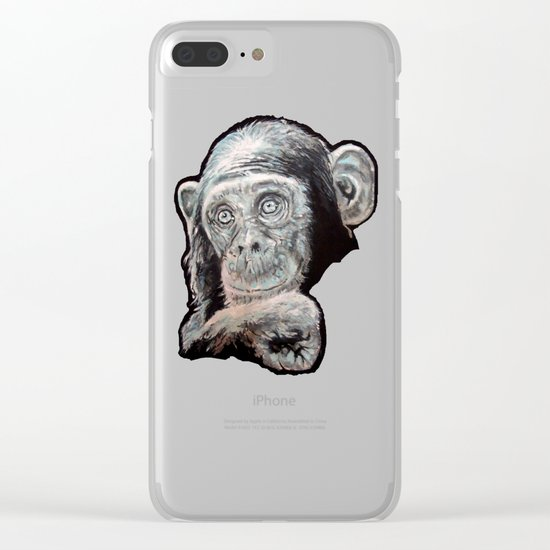 a Jane Goodall quote - black Clear iPhone Case