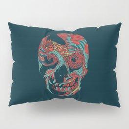 Rooster Skull Pillow Sham
