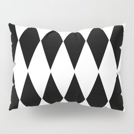 LARGE  WHITE AND BLACK   HARLEQUIN DIAMOND PATTERN Pillow Sham