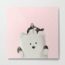 Cat Hug Me! Metal Print