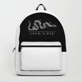 Join or Die Flag Black & White Backpack