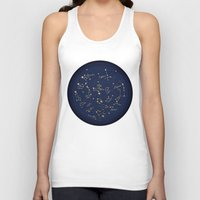 constellations Tank Tops featuring Constellations by Cina Catteau