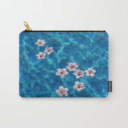 Almond blossom floating in swimming pool Carry-All Pouch