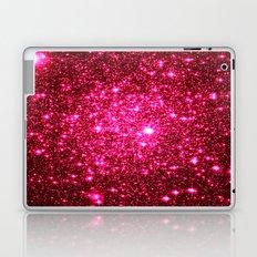 Hot Pink Glitter Stars Laptop & iPad Skin