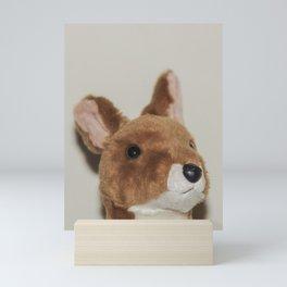 Cute kangaroo plush 0031 Mini Art Print