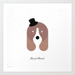 Pedigree: Basset Hound Art Print