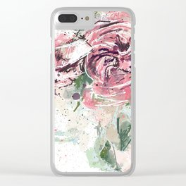 Abstract roses Clear iPhone Case