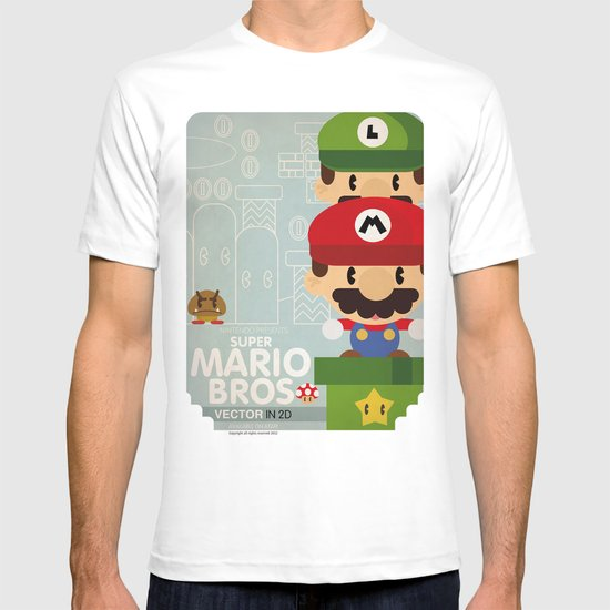 mario bros 2 fan art T-shirt