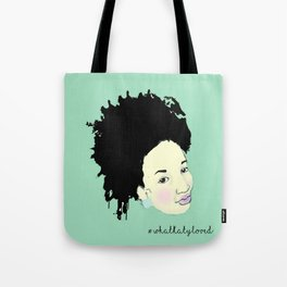 Ink Splatter Afro Girl Tote Bag