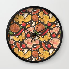 Indonesia Spices Wall Clock