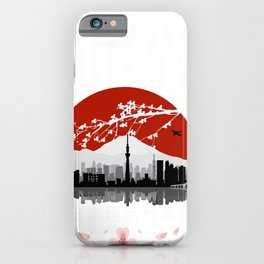 Tokyo landscape poster iPhone Case