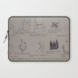 Vintage 1940s Style and Sewing Laptop Sleeve