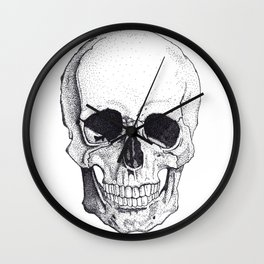 Skull by Carla Marroquín Wall Clock