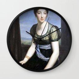 François Gerard - Portrait of Laure Regnaud de Saint-Jean d'Angely Wall Clock