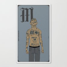 M is for.. Canvas Print