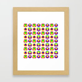 Primary Colors, White Background Framed Art Print