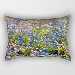 Myosotis flowering in spring Rectangular Pillow