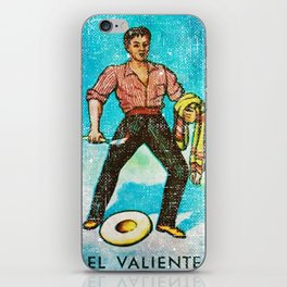 El Valiente Mexican Loteria Bingo Card iPhone Skin