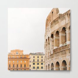 Colosseum - Rome Italy Architecture, Travel Photography Metal Print