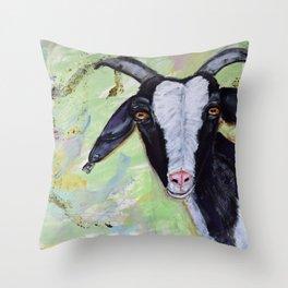 Helga the Goat Throw Pillow