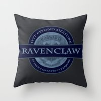 ravenclaw Throw Pillows featuring Ravenclaw by justgeorgia