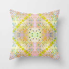 Rustic geometry Throw Pillow
