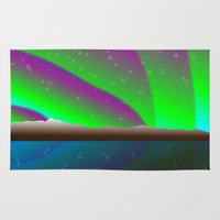 northern lights Area & Throw Rugs featuring Northern lights by PADMA DESIGNS PR