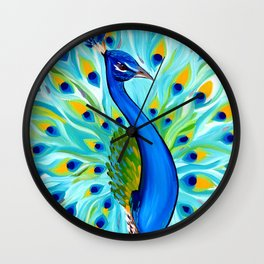 Peacock for Phone Case Wall Clock