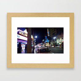 Hollywood Blvd Three Framed Art Print