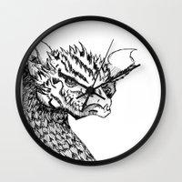 smaug Wall Clocks featuring Smaug by LegendOfZeldy