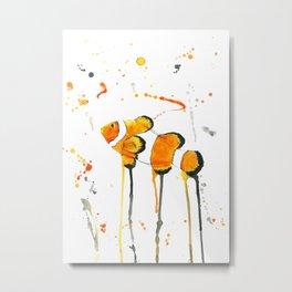 Clownfish - Watercolor Painting Metal Print