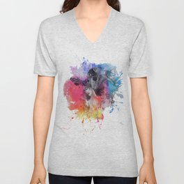 black butterflies Unisex V-Neck