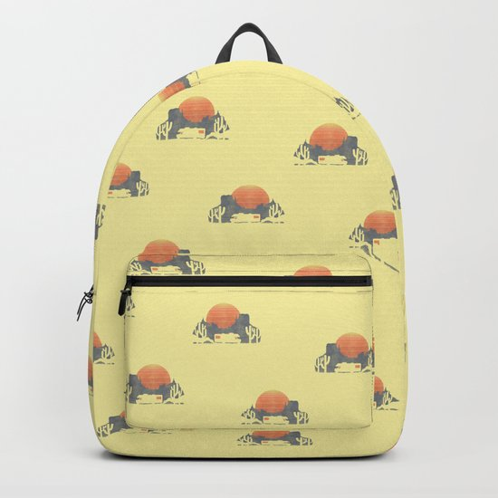 Trail of the dusty road Backpack