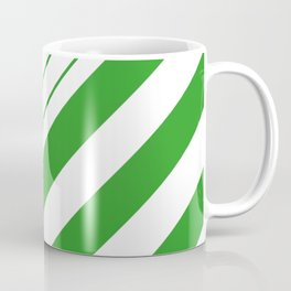 Green And White Stripes Pattern Coffee Mug