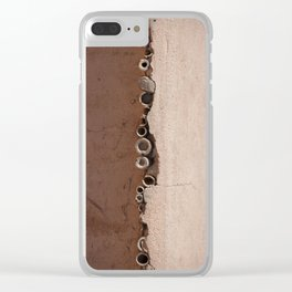 rotated rustic roof Clear iPhone Case