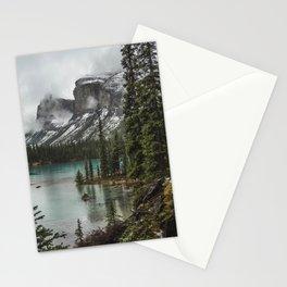 Landscape Maligne Lake Island Stationery Cards