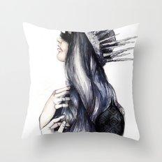 Ice Queen // Fashion Illustration Throw Pillow
