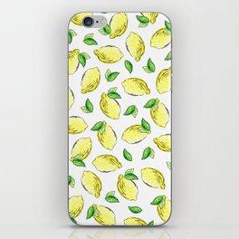 Lemon Watercolor Pattern iPhone Skin