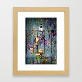 Over the garden gate Framed Art Print