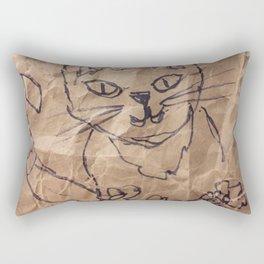 Cat on the bag Rectangular Pillow