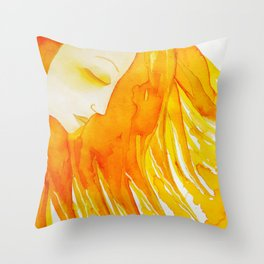 Bast The Sun Goddess Lioness of a Woman's Soul  by Jeanne Fry Throw Pillow
