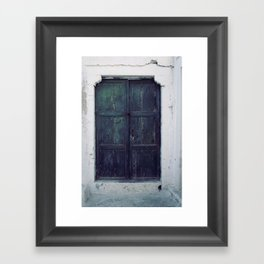 Santorini Door II Framed Art Print
