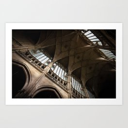 Ceiling of St. Vitus Cathedral, Prague Art Print